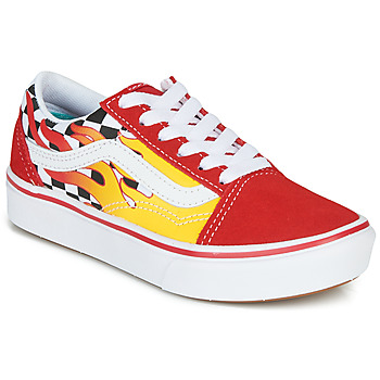 Chaussures Garçon Baskets basses Vans COMFYCUSH OLD SKOOL Rouge / Jaune