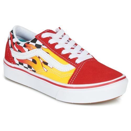 Chaussures Garçon Baskets basses Vans COMFYCUSH OLD SKOOL Rouge / Jaune