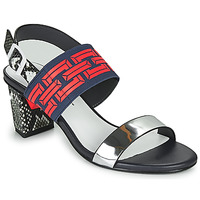 Chaussures Femme Sandales et Nu-pieds United nude POP SANDAL MID Noir / Rouge