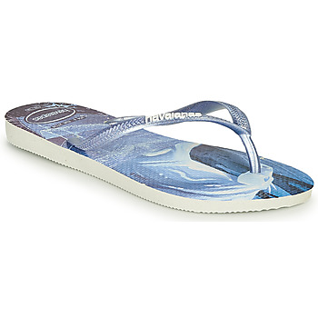 Chaussures Fille Tongs Havaianas KIDS SLIM FROZEN Bleu