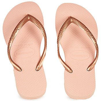 Chaussures Fille Tongs Havaianas SLIM Rose