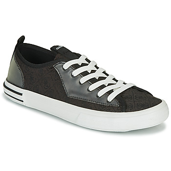 Chaussures Homme Baskets basses Guess NETTUNO LOW Noir / Gris