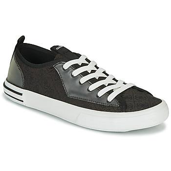 Chaussures Homme Baskets basses Guess NETTUNO LOW Noir / Gris