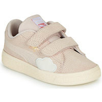 Chaussures Fille Baskets basses Puma SUEDE Rose