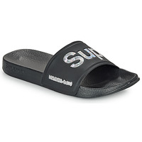 Chaussures Femme Claquettes Superdry HOLO INFIL POOL SLIDE Noir
