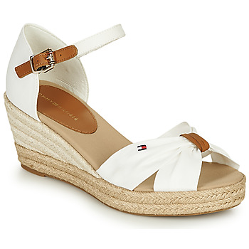Chaussures Femme Sandales et Nu-pieds Tommy Hilfiger BASIC OPENED TOE MID WEDGE Blanc