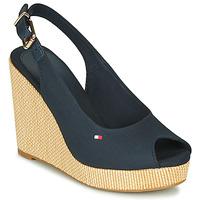 Chaussures Femme Sandales et Nu-pieds Tommy Hilfiger ICONIC ELENA SLING BACK WEDGE Bleu