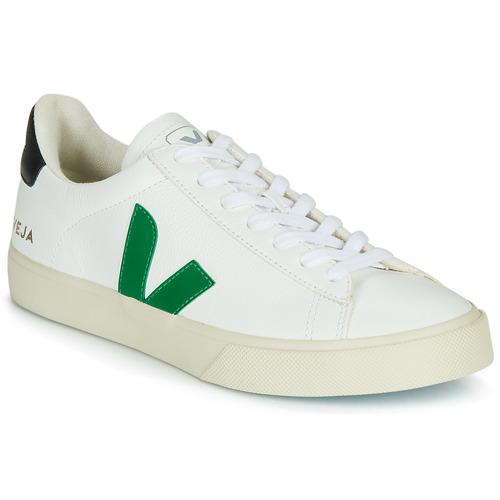Chaussures Baskets basses Veja CAMPO Blanc / Vert / Noir