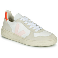 Chaussures Femme Baskets basses Veja V-10 Blanc / Orange / Rose
