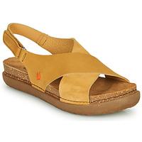 Chaussures Femme Sandales et Nu-pieds Art RHODES Moutarde