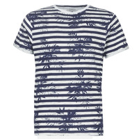 Vêtements Homme T-shirts manches courtes Casual Attitude NELLYA Marine / Ecru