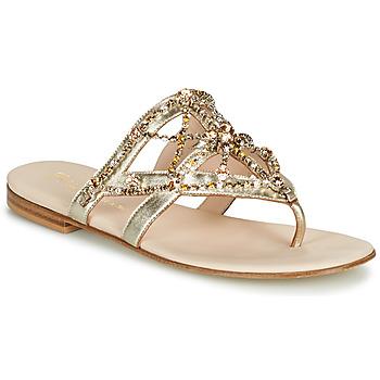 Chaussures Femme Tongs Fru.it  Doré
