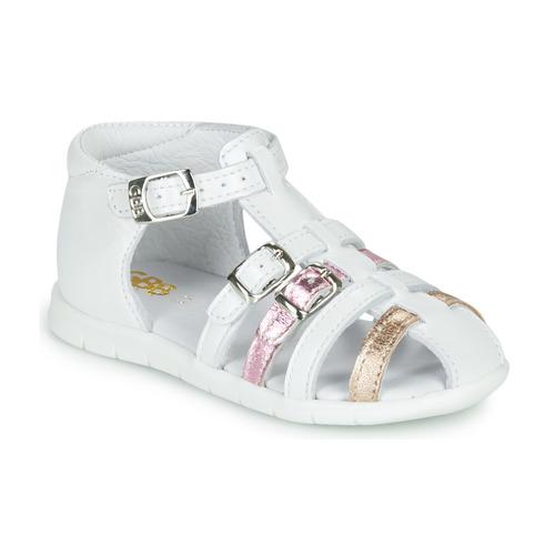 Chaussures Fille Sandales et Nu-pieds GBB PERLE Blanc