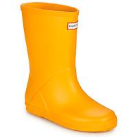 Chaussures Enfant Bottes de pluie Hunter KIDS FIRST CLASSIC Jaune