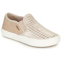 Chaussures Fille Slip ons Geox J KILWI GIRL Beige