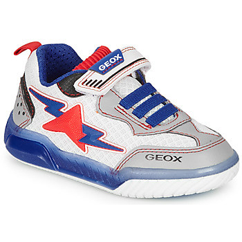 Chaussures Garçon Baskets basses Geox J INEK BOY Blanc / Bleu / Rouge