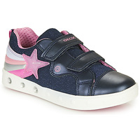 Chaussures Fille Baskets basses Geox J SKYLIN GIRL Marine / Rose