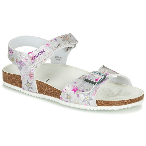 Chaussures Fille Sandales et Nu-pieds Geox ADRIEL GIRL Argenté