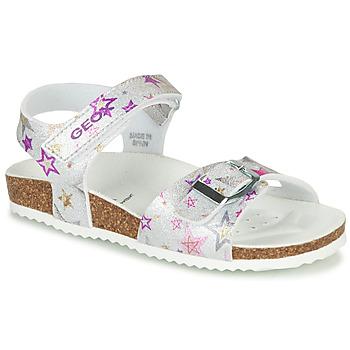 Chaussures Fille Sandales et Nu-pieds Geox J ADRIEL GIRL Argenté