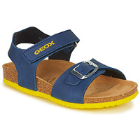 Chaussures Garçon Sandales et Nu-pieds Geox GHITA BOY Bleu / Jaune