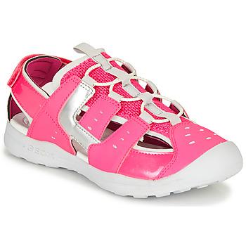 Chaussures Fille Sandales sport Geox J VANIETT GIRL Rose / Argenté