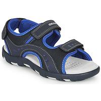 Chaussures Garçon Sandales sport Geox JR SANDAL PIANETA Marine