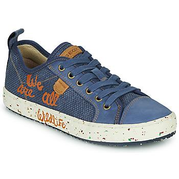 Chaussures Garçon Baskets basses Geox J ALONISSO BOY Bleu / Marron