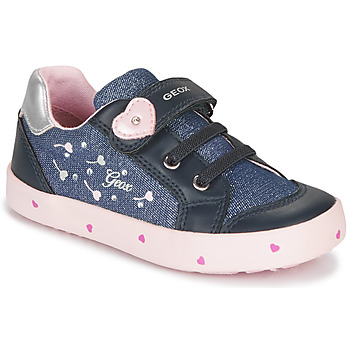 Chaussures Fille Baskets basses Geox B KILWI GIRL Bleu / Rose