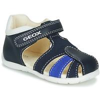 Chaussures Garçon Sandales et Nu-pieds Geox B ELTHAN BOY Marine / Blanc