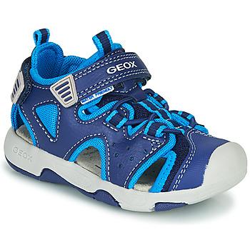 Chaussures Garçon Sandales sport Geox B SANDAL MULTY BOY Bleu
