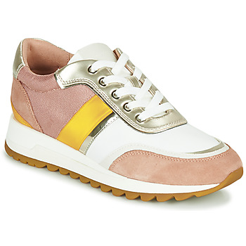 Chaussures Femme Baskets basses Geox D TABELYA Rose / Blanc / Jaune