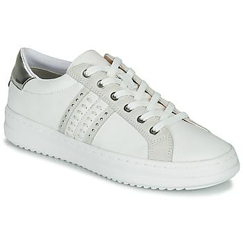 Chaussures Femme Baskets basses Geox D PONTOISE Blanc / Argenté