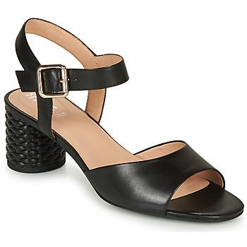 Chaussures Femme Sandales et Nu-pieds Geox D ORTENSIA MID SANDA Noir