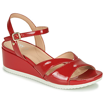 Chaussures Femme Baskets basses Geox D ISCHIA Rouge