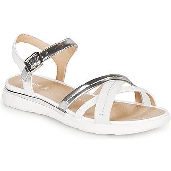 Chaussures Femme Sandales et Nu-pieds Geox D SANDAL HIVER Argenté / Blanc