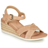 Chaussures Femme Sandales et Nu-pieds Geox D ISCHIA CORDA Beige