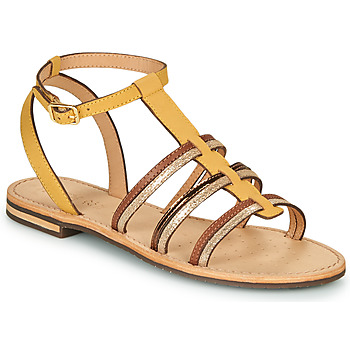 Chaussures Femme Sandales et Nu-pieds Geox D SOZY Jaune / Marron / Doré