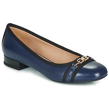 Chaussures Femme Ballerines / babies Geox D WISTREY Marine / Noir