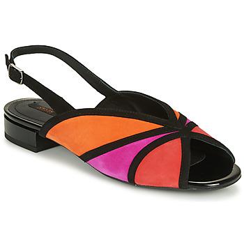 Chaussures Femme Sandales et Nu-pieds Geox D WISTREY SANDALO Noir / Rouge / Rose