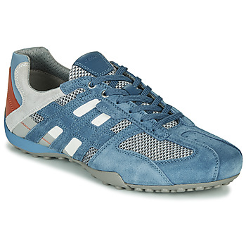Chaussures Homme Baskets basses Geox UOMO SNAKE Bleu / Gris