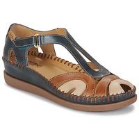 Chaussures Femme Sandales et Nu-pieds Pikolinos CADAQUES W8K Bleu / Camel
