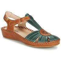 Chaussures Femme Sandales et Nu-pieds Pikolinos P. VALLARTA 655 Camel / Vert