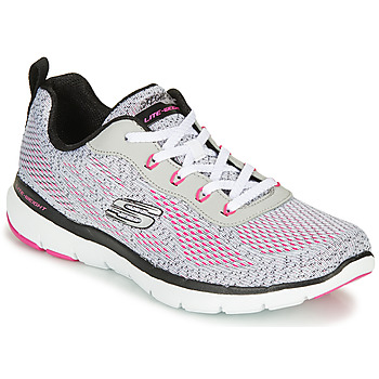 Chaussures Femme Fitness / Training Skechers FLEX APPEAL 3.0 Gris / Rose