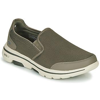 Chaussures Homme Slip ons Skechers GO WALK 5 Kaki