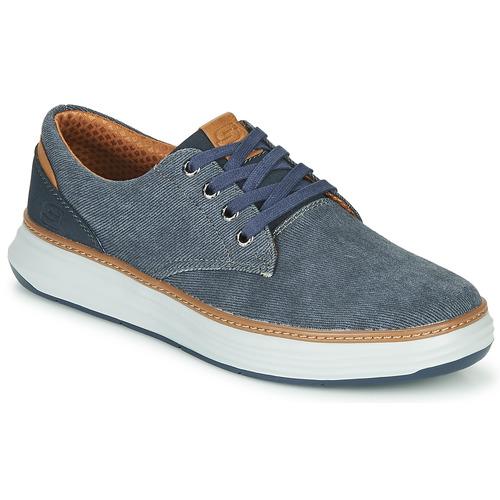 Chaussures Homme Baskets basses Skechers MORENO EDERSON Bleu / Marron