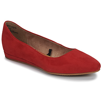Chaussures Femme Ballerines / babies Tamaris CECILIA Rouge
