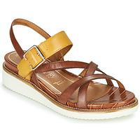 Chaussures Femme Sandales et Nu-pieds Tamaris EDA Marron / Jaune