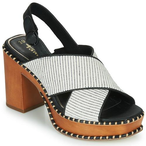 Chaussures Femme Sandales et Nu-pieds Tamaris CLAUDIE Blanc