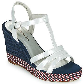 Chaussures Femme Sandales et Nu-pieds Tamaris CYNARA Blanc / Marine / Rouge