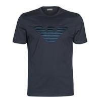 Vêtements Homme T-shirts manches courtes Emporio Armani DOUNIA Marine